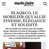"""@marieclairemaison parle de nous dans ce bel article spécial """"Made in France""""  Un grand merci @emilie.mci  @jeff_bvlcqua  à Oceane Olivares @mediasfrance ✨🙏🏻✨ • • • • #blaqandco #mobilier #steel #wood #design #decorationinterieur #instahome #marieclairemaison #madeinfrance"""